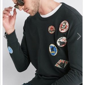Lucky Brand Patchwork Crew Sweatshirt